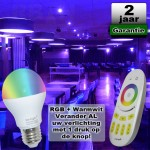 E27 RGBW Led kleuren lamp 6W Mi-Light