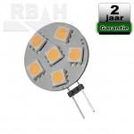 Led Steeklampje G4 12-30V 1,2W Dimbaar 2700K Plat