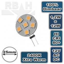 g4 led 12 volt 12w 2400k dimbaar