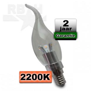 LED kaarslamp kroonluchter E14 1,8W warmwit 2200 kelvin dimbaar 230V
