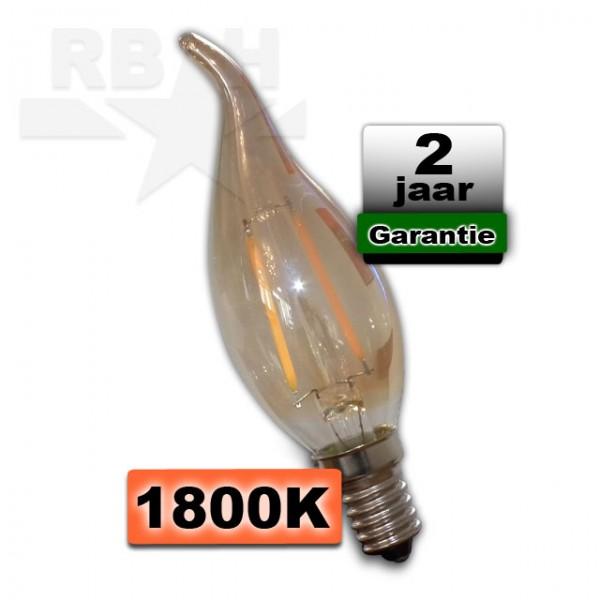 Kaarslamp Led 1800K E14 Dimbaar 2W Gold