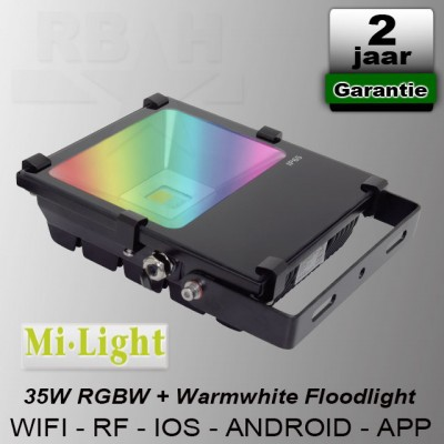 RGBW Led Floodlight Mi-Light Wifi / App 35W