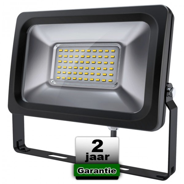 SMD LED Breedstraler 30W 3000K Warmwit
