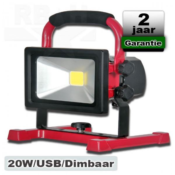 Led Werklamp 20 Watt Oplaadbaar