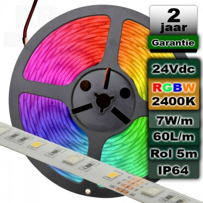 Ledstrip RGBW 2400K 24V MI-Light Spatwaterdicht