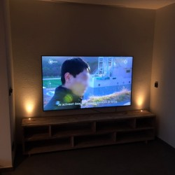 TV Meubel Steigerhout met Led Mini Spots