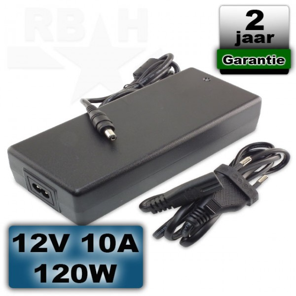 12V LED voeding 10A 120W adapter universeel