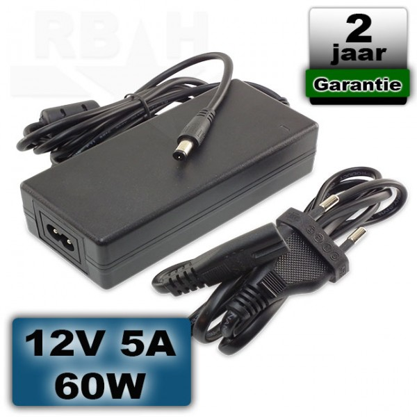 LED voeding 12 volt 5A 60W adapter universeel