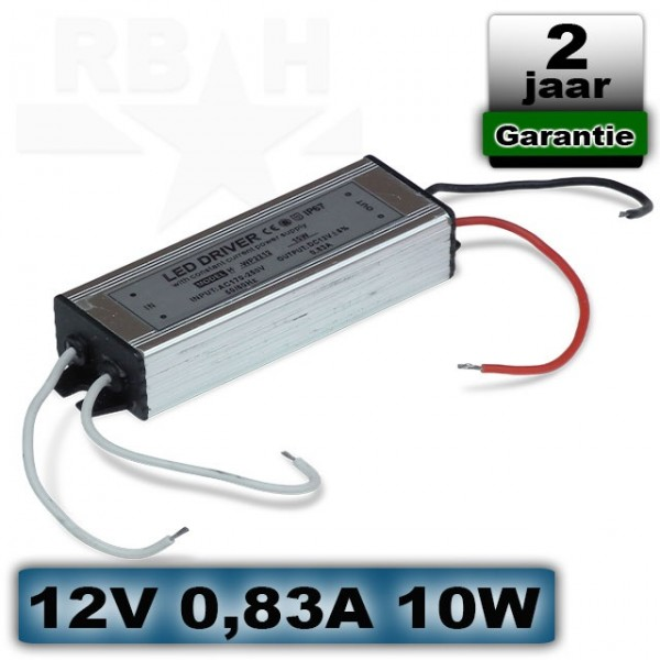 LED voeding waterproof 12V 0,83A 10W mini