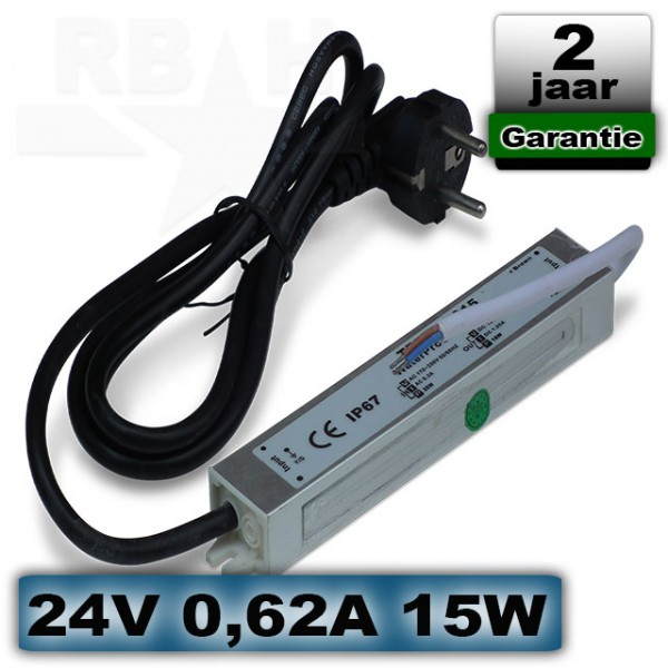 LED voeding waterproof 24V 0,62A 15W