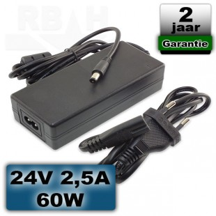 Universele adapter 24 volt 2,5A 60W