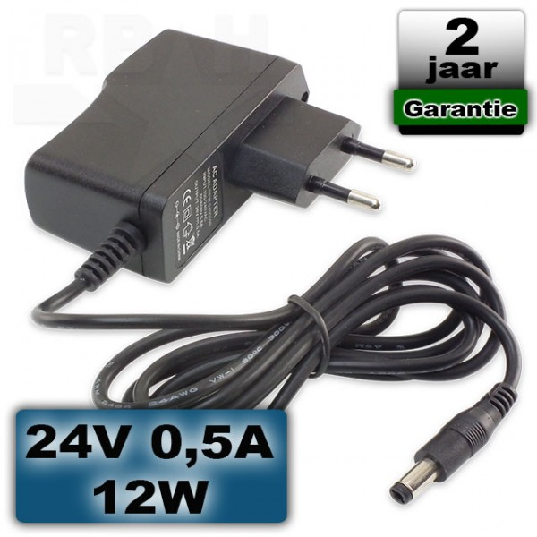 24V 0,5A 12W adapter universeel