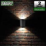 Up Down wandverlichting Binnen Buiten 6W 230V CREE