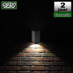 Wandlamp Zwart Antraciet Design 3W 12V CREE