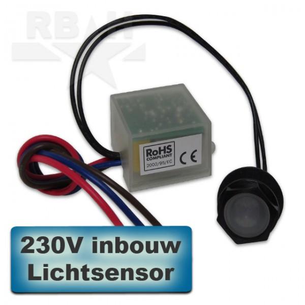 Automatische lichtschakelaar inbouw met losse sensor 230V