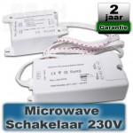 Microwave bewegingssensor schakelaar 230V ideaal voor systeemplafonds