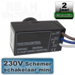 Schemerschakelaar mini inbouw Led 230V
