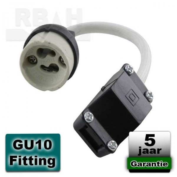 Fitting GU10 met aansluitblok