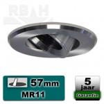 Inbouwspot / armatuur MR11 geborsteld aluminium