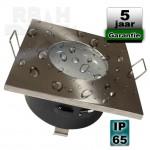 Badkamer spot geschuurd vierkant IP65 GU10/MR16