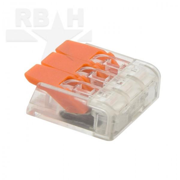 Doorverbinder voor soepele kabel 3 voudig