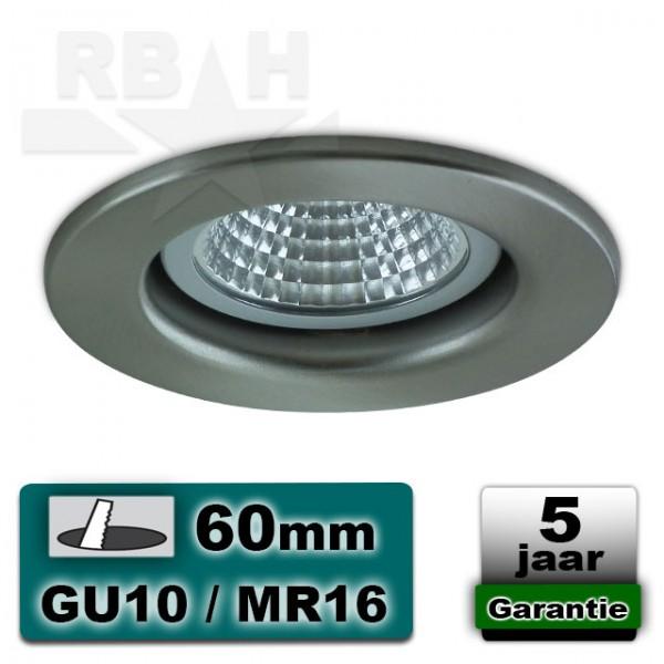 LED inbouwspot / armatuur vast staal MR16 / GU10