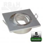 LED inbouwspot aluminium vierkant SN kantelbaar MR16 / GU10