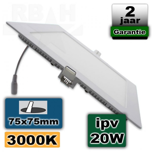 Led panel light 3W vierkant 230V