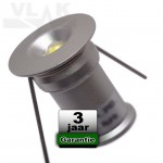 Mini Led Spot 12V 1W Dimbaar Warmwit