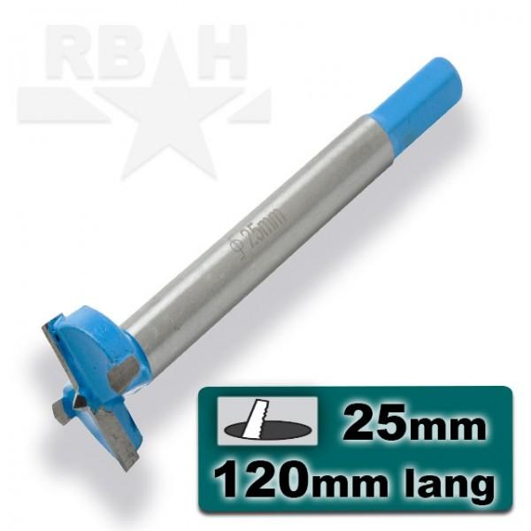 25mm Cilinderkopboor Hout Spaanplaat MDF Kunststof
