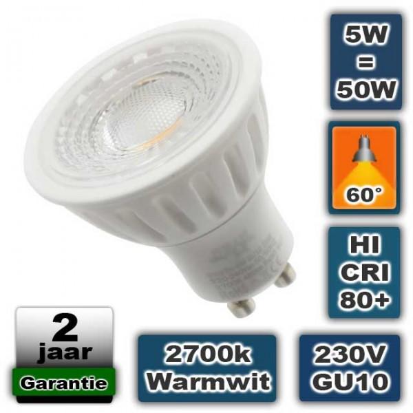 Keramische Ledlamp spot 5W GU10