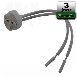 Aansluitvoetje / houder van porselein voor MR11 / MR16 12V ledspot