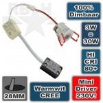 Kleine Dimbare 230V Mini Led spot CREE 3W