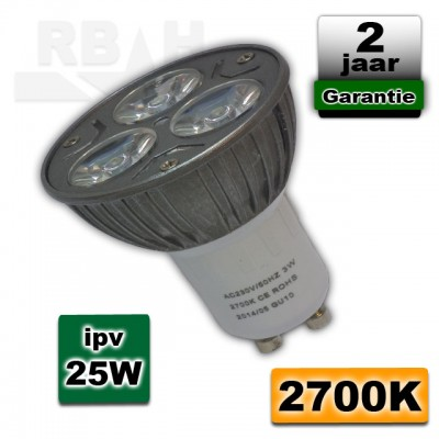 Ledspot 3W 230V GU10 fitting 2700K warmwit