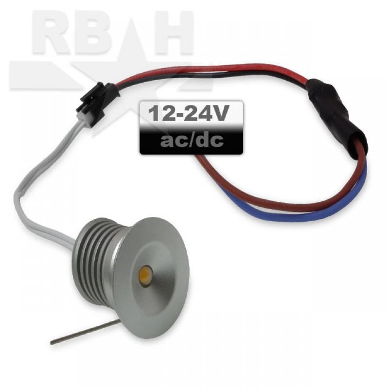 Mini led inbouwspot rond 12V 3W dimbaar
