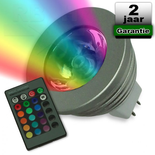 RGB Led spot MR16 met afstandsbediening