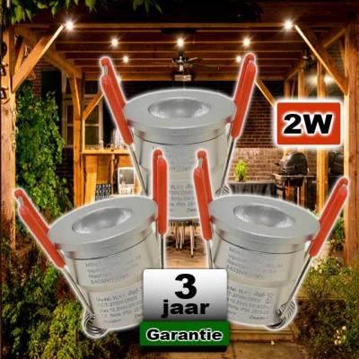 Led spots aluminium overkapping / veranda CREE 12V 2W dimbaar