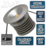 12V Mini Led Spot 2W 4000K Daglicht