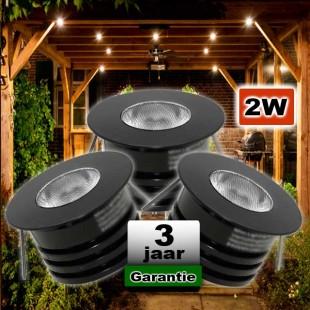 LED spots zwart dimbaar 12V 2W