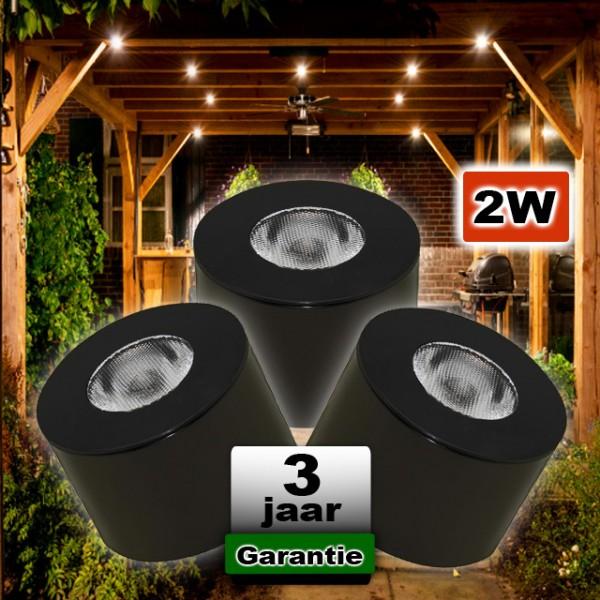 LED Opbouwspot Zwart Dimbaar 12V