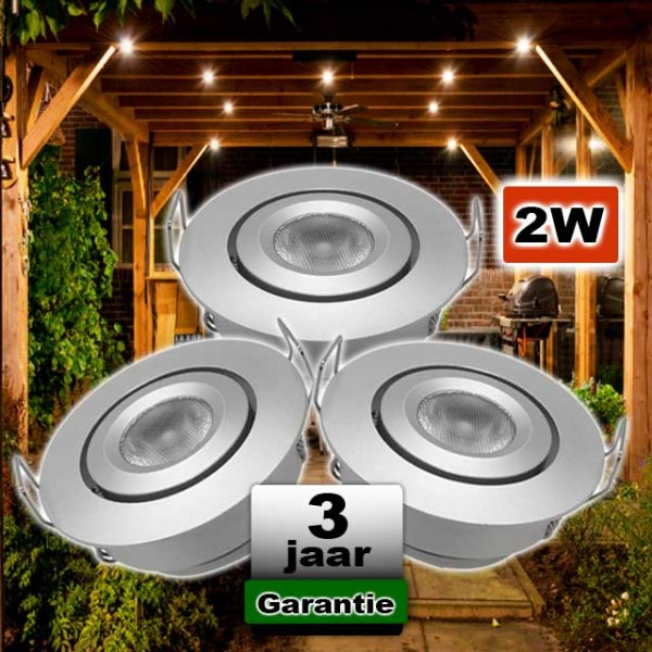 Veranda LED spot kantelbaar 12V 2W CREE Dimbaar