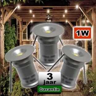 Veranda verlichting inbouw 1W Rond 4000K Daglicht