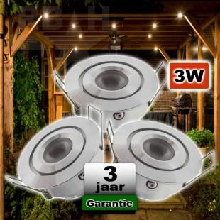 Veranda LED spot kantelbaar 12V 3W CREE Dimbaar