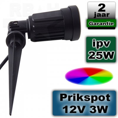RGB tuinverlichting spot 12V 3W