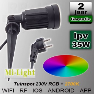 Prik tuinspot RGBWW Mi-light Wifi RF 230V 4W