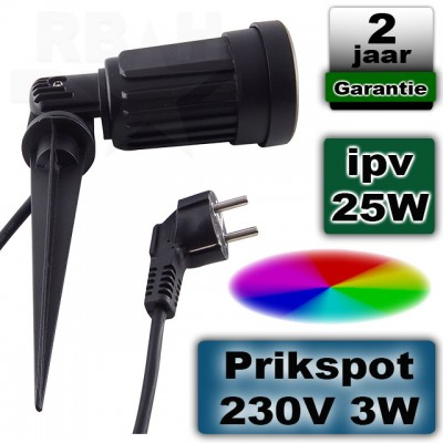 Tuinspot LED RGB + Warmwit 230V