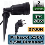 Tuinspot LED spies 230V 5,5W 2700K Dimbaar