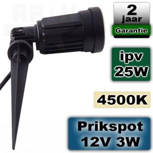 Prikspot tuin LED 12V 3W 4500K