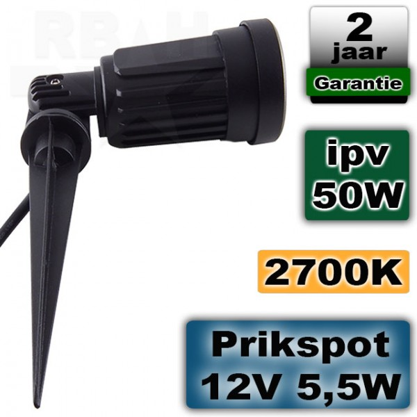 Tuinspot 12 volt LED 6W 2700K
