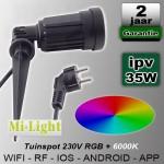 Prik tuinspot RGBCW Mi-light Wifi RF 230V 4W